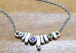 "Pueblo necklace in color palette ""Fling"" by Patricia Locke"