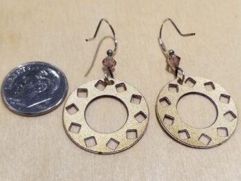 back of purple circle earrings