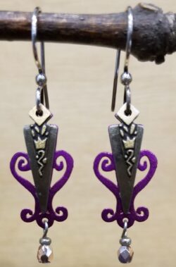 Purple dangle earrings by Joseph Brinton Jewelry