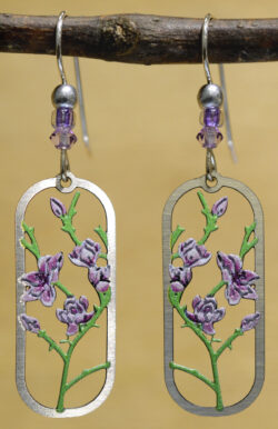 Sienna Sky purple flower blossom earrings
