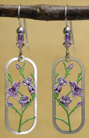 Sienna Sky purple flower blossom earrings