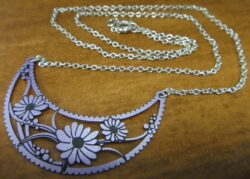 Adajio purple flower necklace by Barbara MacCambridge