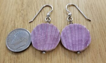 purple shell and sterling silver earrings