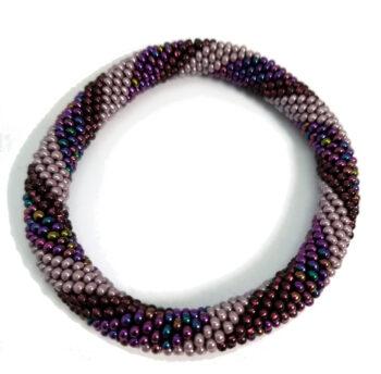 purple striped roll-on bracelet