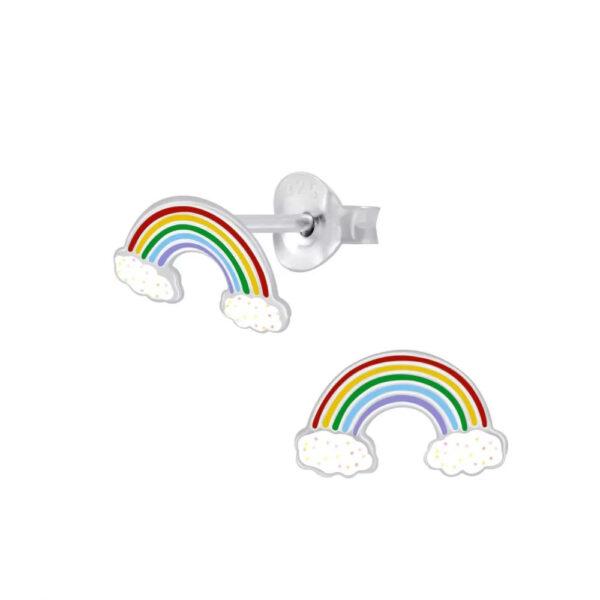 rainbow post earrings