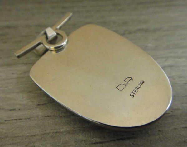 back of rainforest jasper pendant
