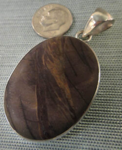 Handmade red creek jasper and sterling silver pendant