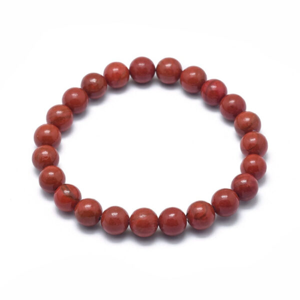 red rainbow jasper bracelet