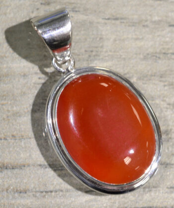handmade red onyx oval pendant