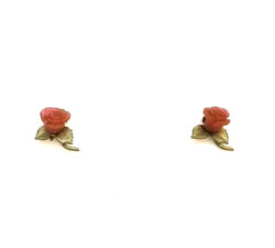red rose post earrings by Michael Michaud