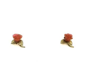 red rose post earrings by Michael Michaud
