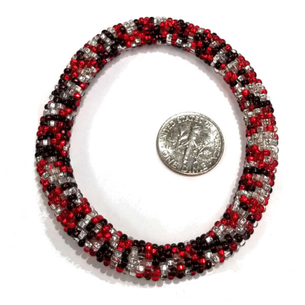 bracelet with dime to help judge scale