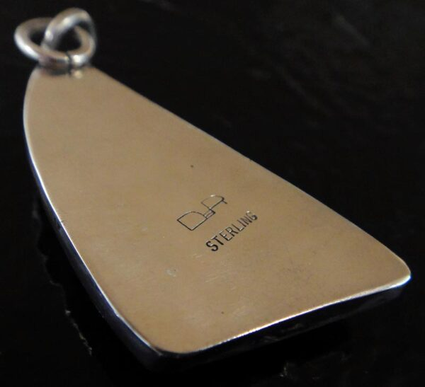 back of rhodonite pendant
