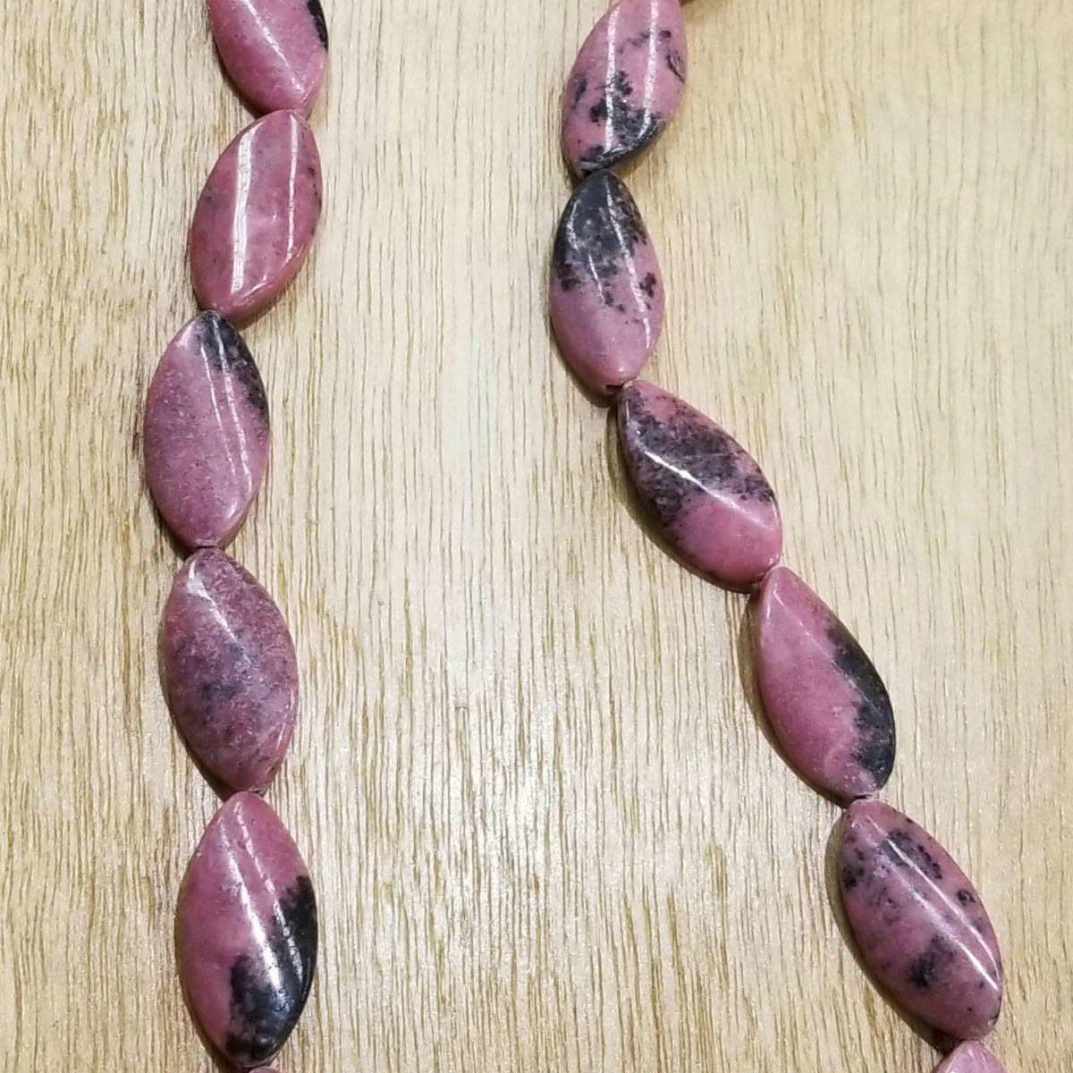 rhodonite long necklace