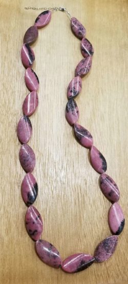 rhodonite long necklace