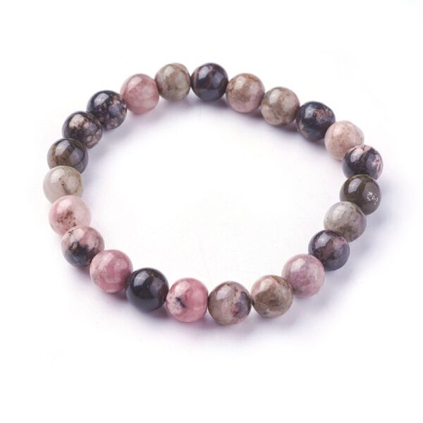 rhodonite stretch bracelet