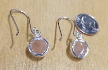 back of rose quartz earrings