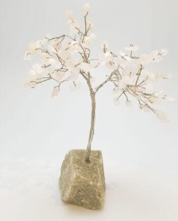rose quartz crystal tree sculpture