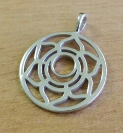 sacral chakra sterling silver pendant
