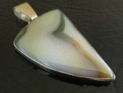 Handmade sardonyx and sterling silver pendant