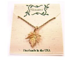 Michael Michaud Seasons handmade grape leaf necklace
