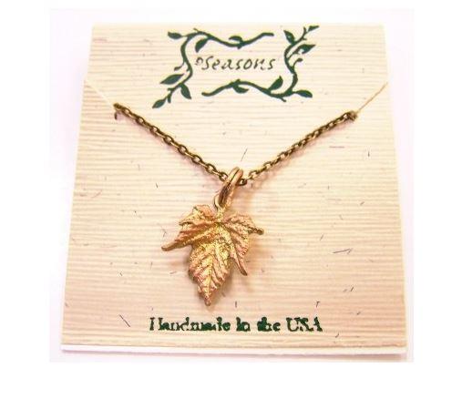 Michael Michaud Seasons handmade grape leaf necklace