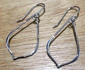 sterling silver pointed drop earrings