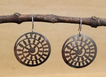 Spiral earrings by Joseph Brinton