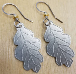 oak leaf earrings by Joseph Brinton