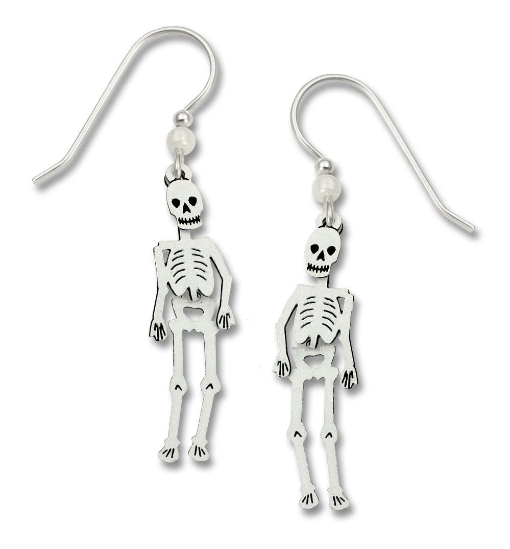 skeleton earrings with sterling silver earwires