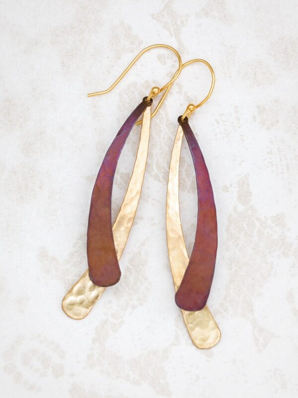 Brown and gold-tone Sonja earrings by Holly Yashi