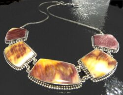 spiny oyster shell sterling silver necklace