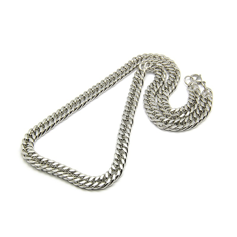 Stainless Steel 24 Inch long Cuban Link Chain