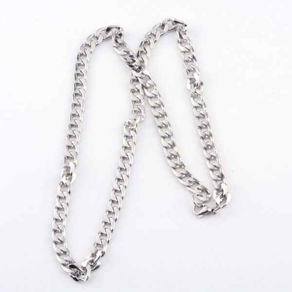Stainless Steel 27 inch curb link chain necklace with lobster claw clasp
