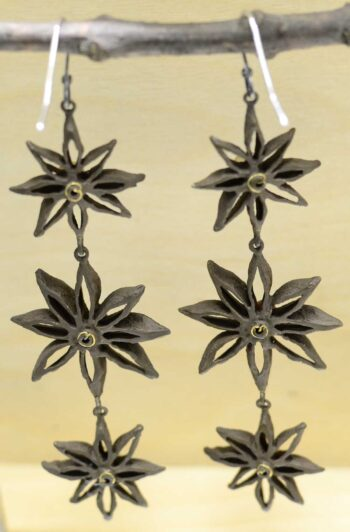 Michael Michaud Silver Seasons Star Anise long earrings back