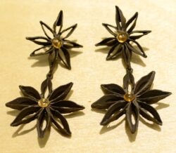 Michael Michaud Silver Seasons Star Anise long post earrings