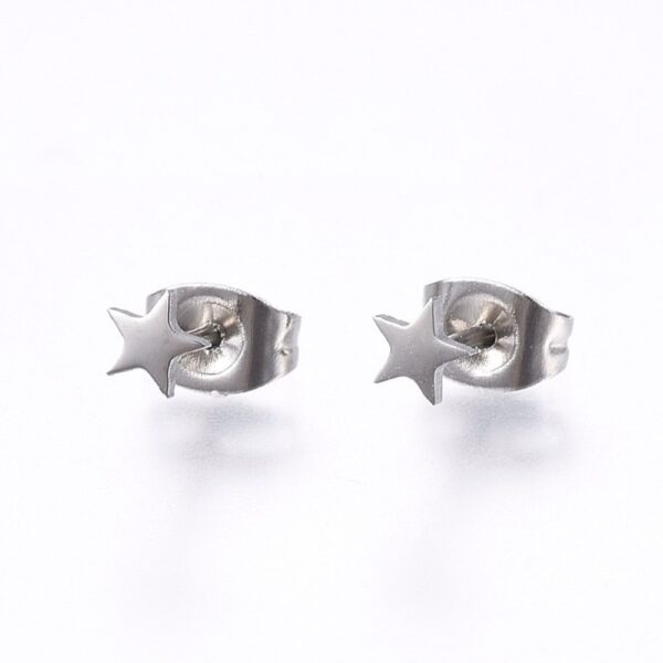 stainless steel petite 4 MM star earrings