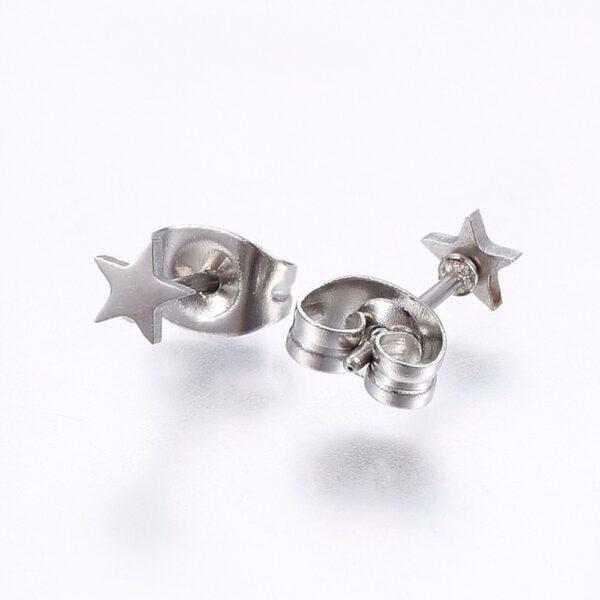 stainless steel star post earrings
