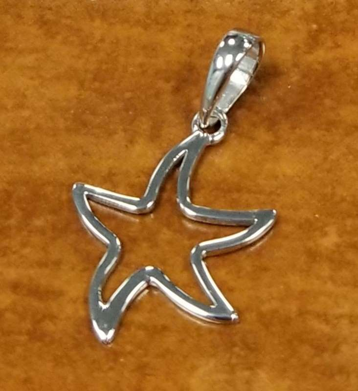 starfish sterling silver pendant