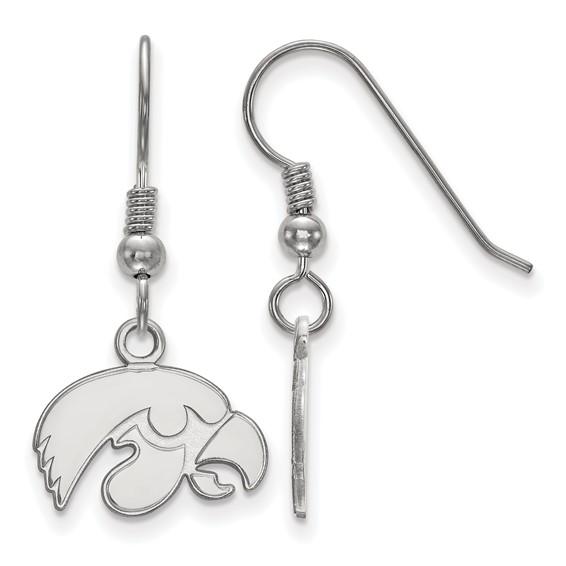 University of Iowa Tigerhawk Dangle earrings in sterling silver