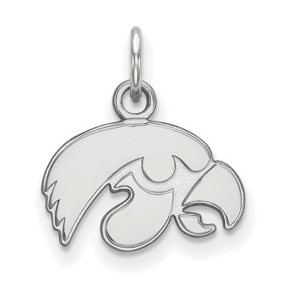 University of Iowa Hawkeye sterling silver pendant charm