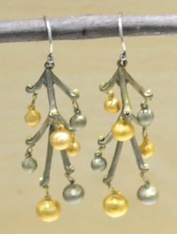 Michael Michaud string of beads earrings