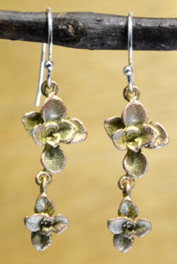 Michael Michaud Silver Season succulent dangle earrings