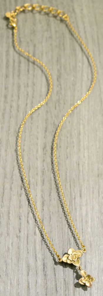 Michael Michaud Silver Seasons succulent necklace