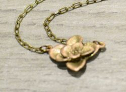 handmade bronze succulent necklace by Michael Michaud