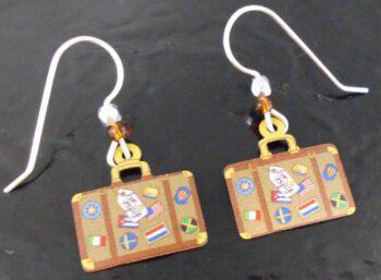 suitcase earrings by Sienna Sky