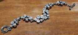 "Swing silver tone bracelet in color ""All Crystal"" by Patricia Locke"