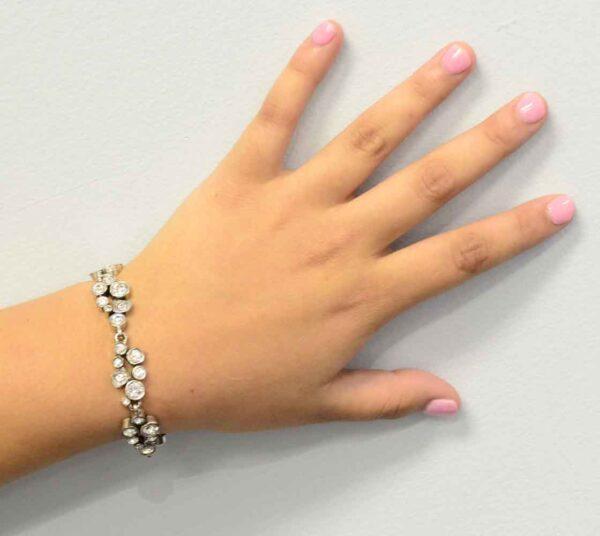 Swing style bracelet by Patricia Locke modeled on wrist