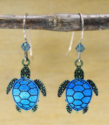 teal and green sea turtle Sienna Sky earrings