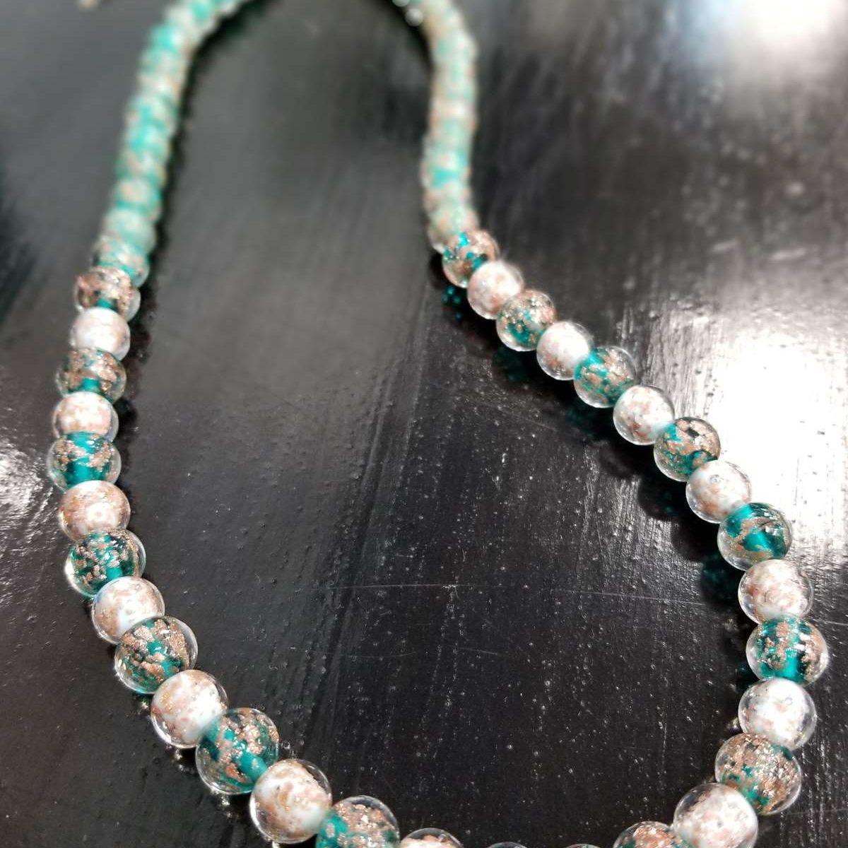 Murano glass beaded necklace
